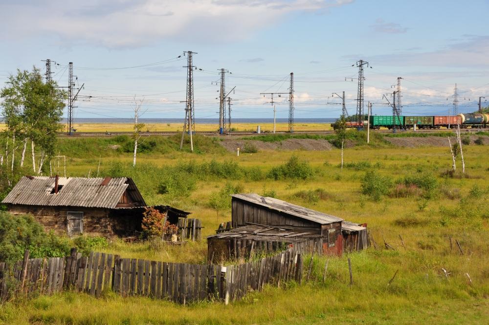 Güterzug Transsibirische Eisenbahn