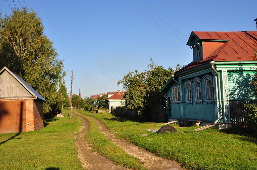 Kleines russisches Dorf