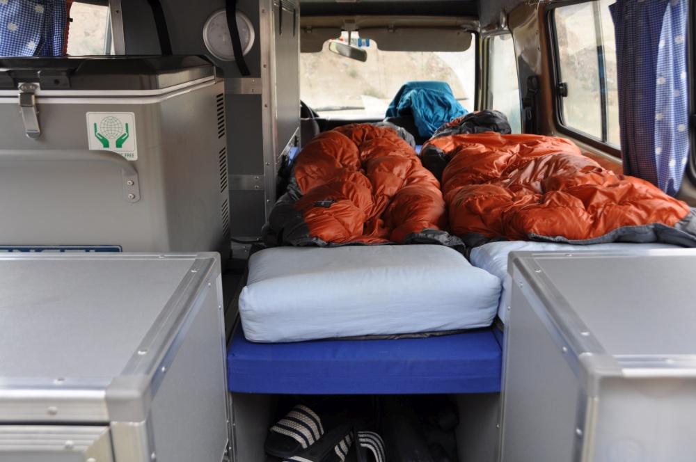 Land Cruiser Reisefahrzeug Notbett Innenraum
