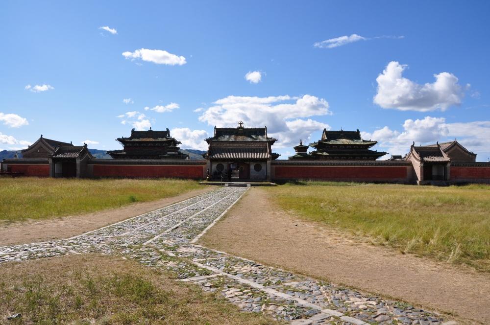 Mauer um die Tempel Erdene Zuu