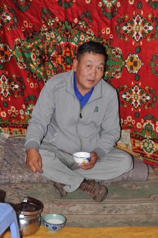Mongole in Jurte