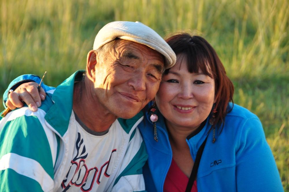 Mongolischer Mann und Urka