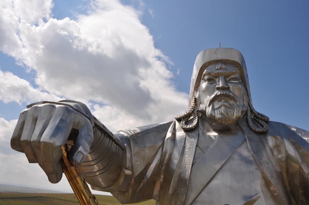 Portrait Chingis Khan Statue
