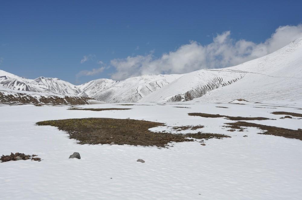 Schneelandschaft Richtung Bishkek
