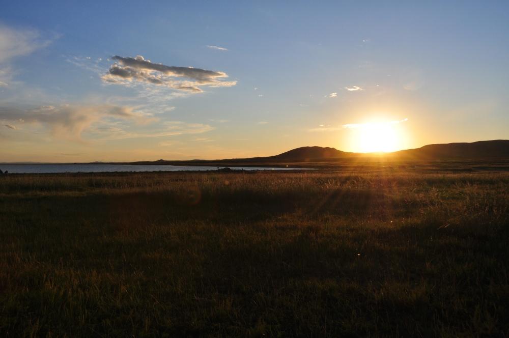 Sonnenuntergang am Ögii Nuur