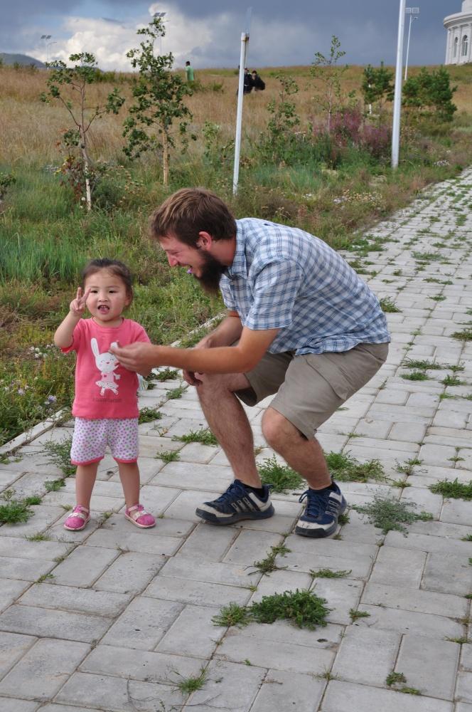 Tobi und mongolisches Mädchen
