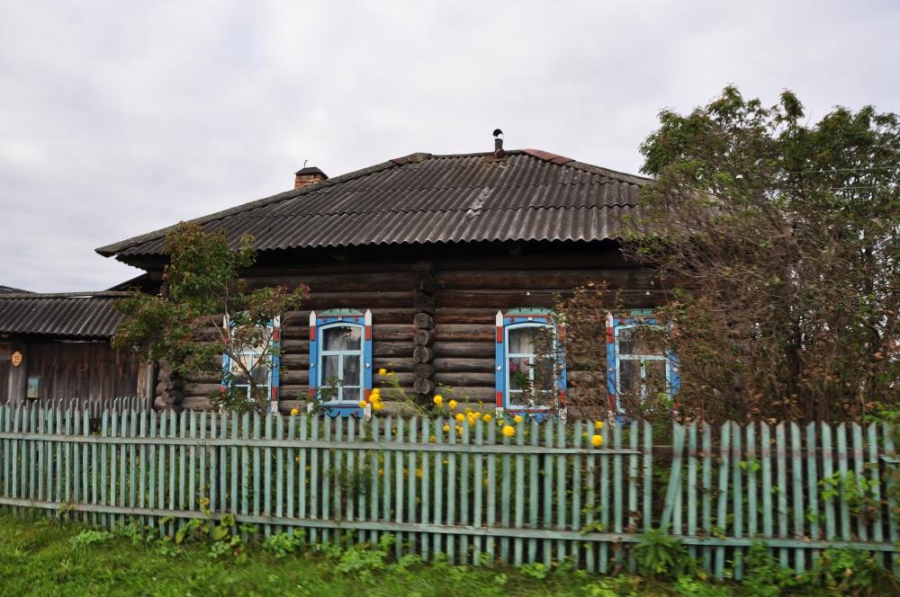 Typisch sibirisches Holzhaus