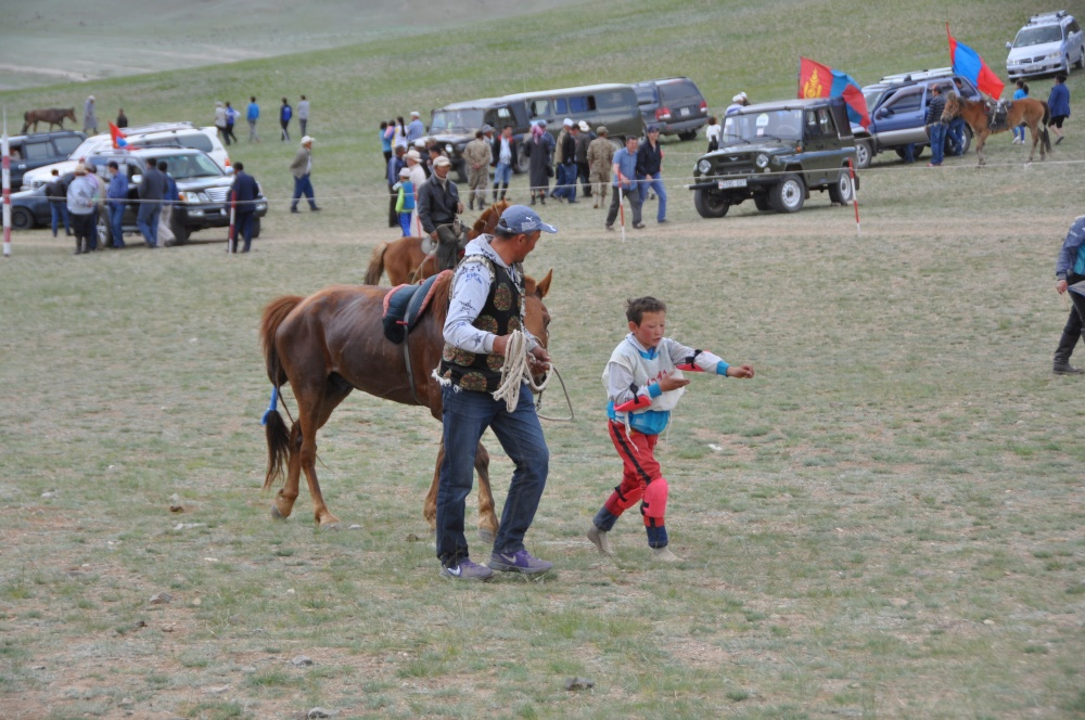 Zielbereich vom Pferderennen