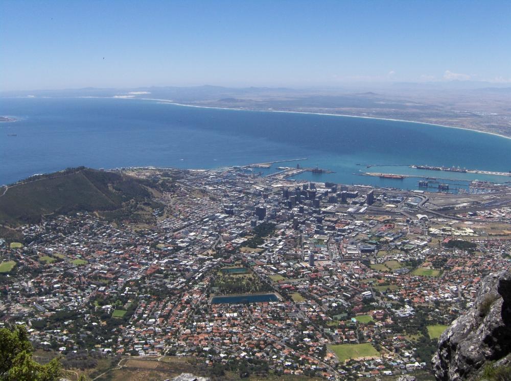Aussicht Tafelbucht und Kapstadt