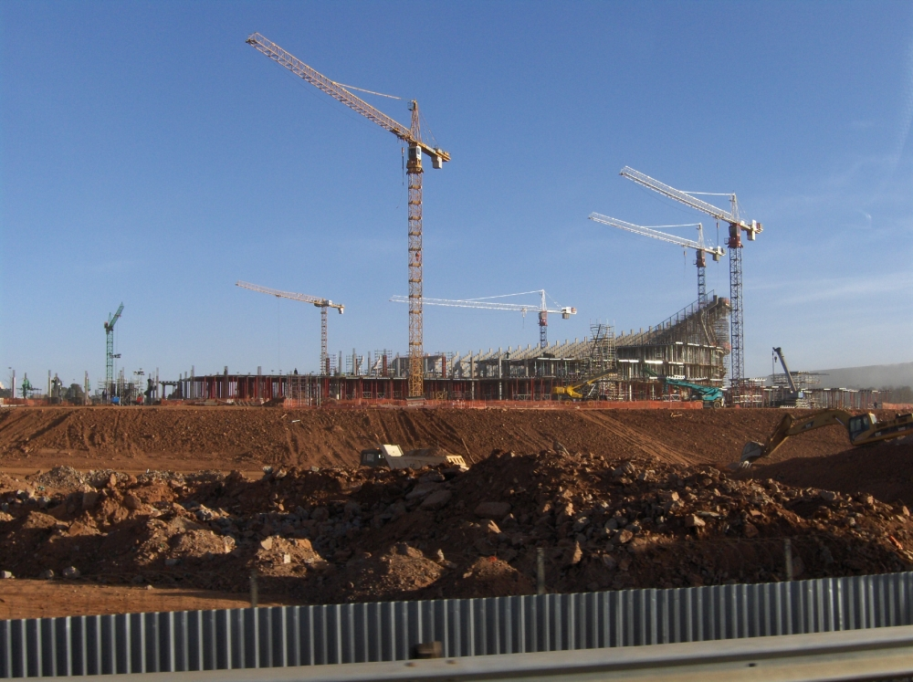 Baustelle Fussballstadion