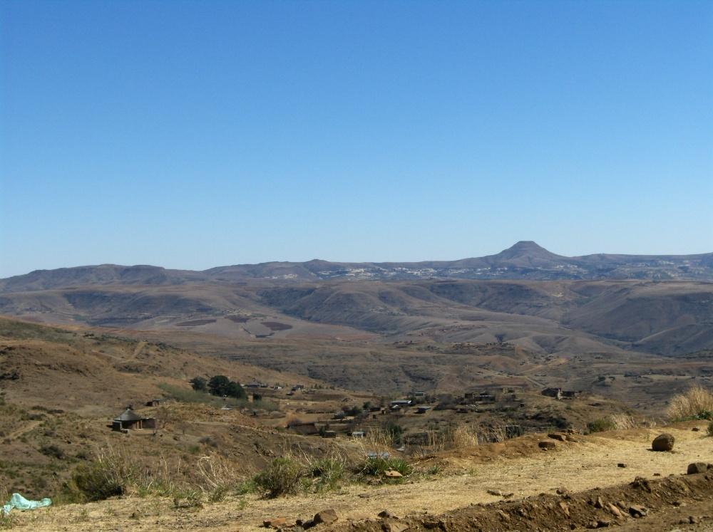 Berglandschaft und Weg
