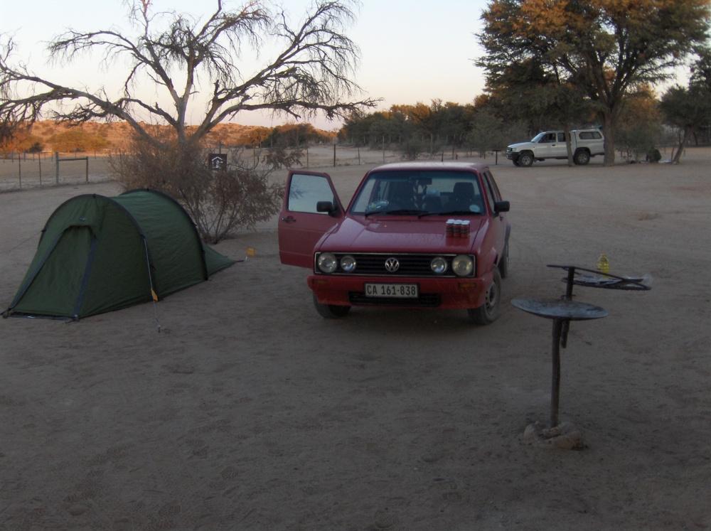 Chicolino auf Campingplatz