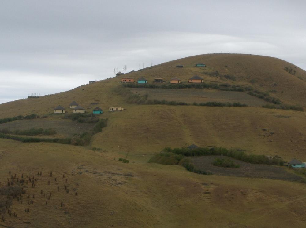Farbige Rundhütten in der Transkei