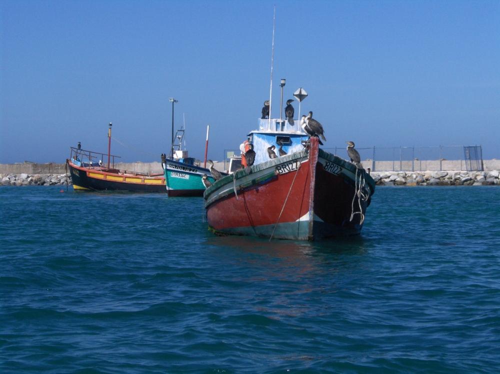 Fischerboote ganz im Süden Afrikas