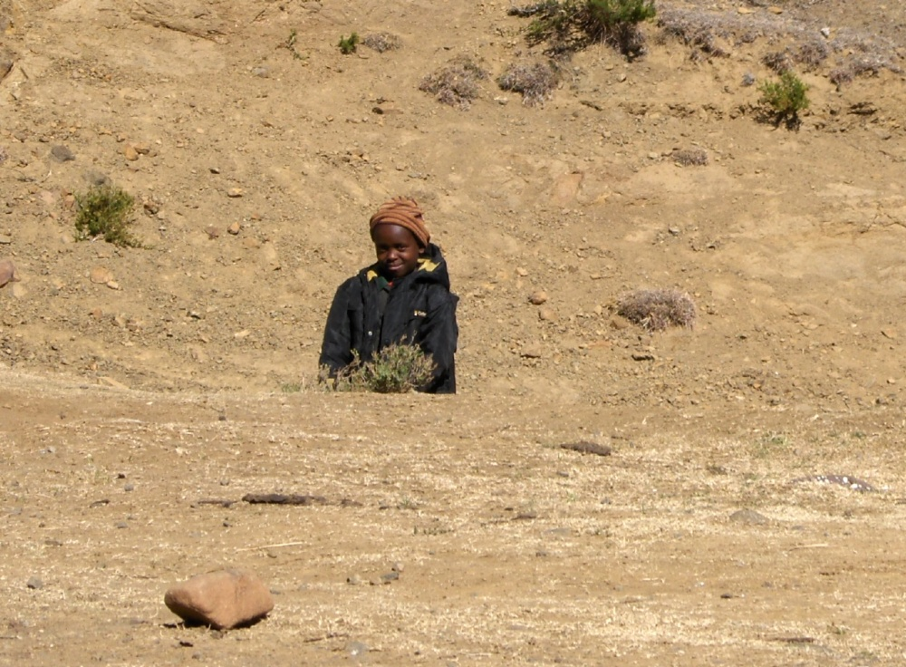 Hirtenkind in Lesotho