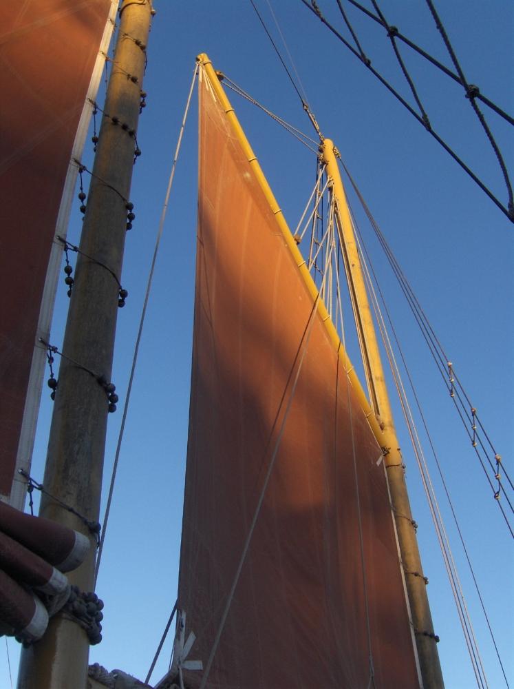 Segel von Segelschiff