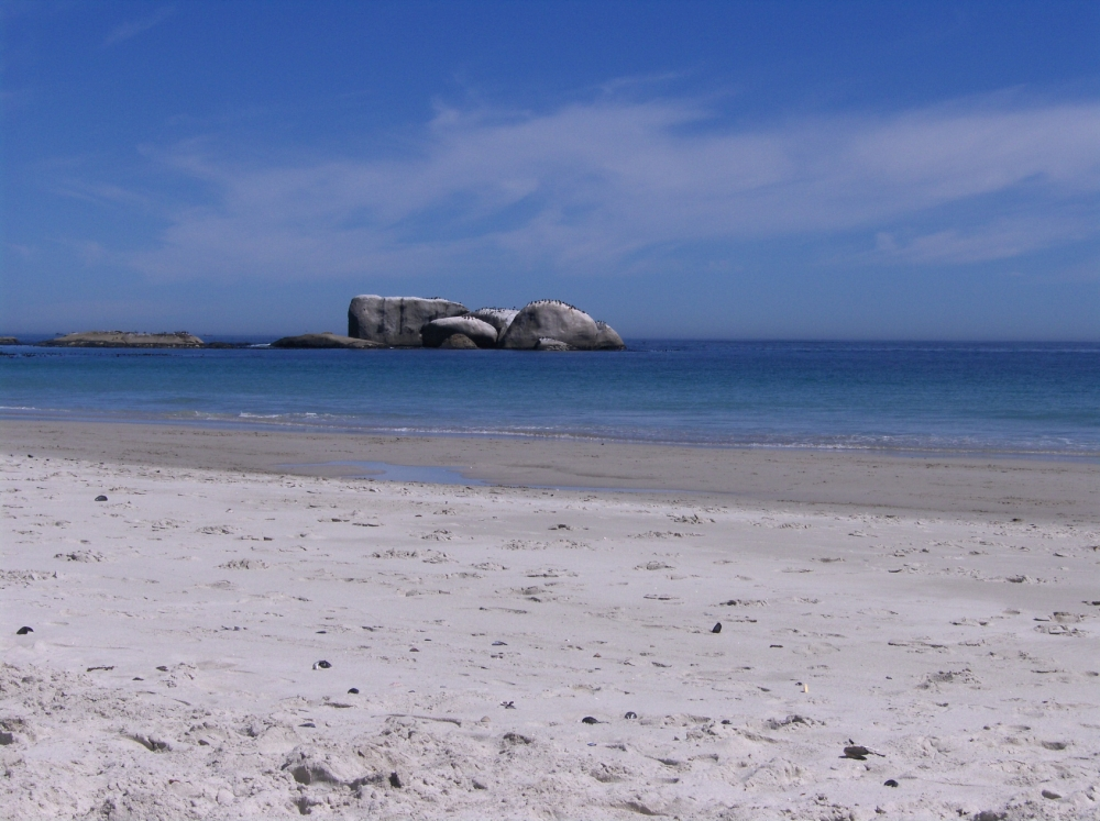 Strand, Felsen im Meer, Clifton