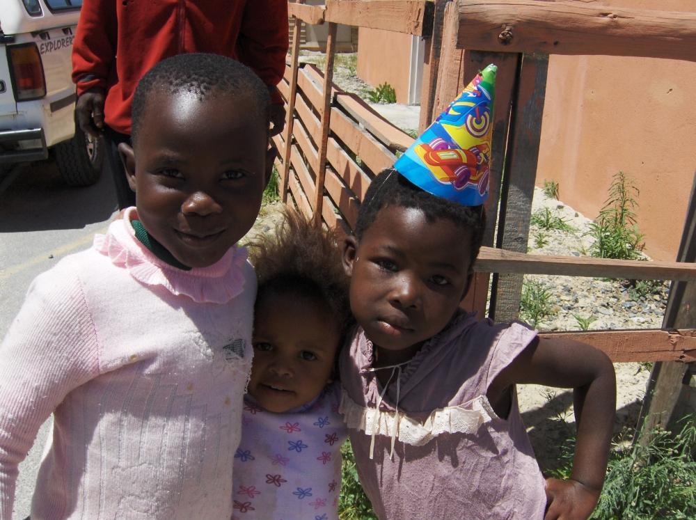 Südafrikanische Mädchen mit Hut