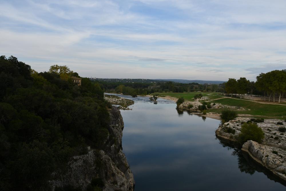 Fluss Gardon bei Pont du Gard