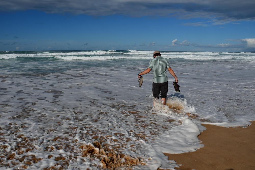 Tobi Fuesse im Atlantik Wellen Algarve