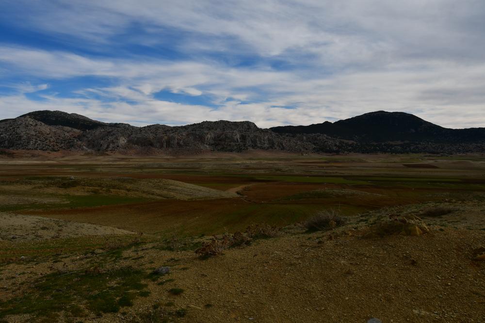 Bewirtschaftete Felder Berge