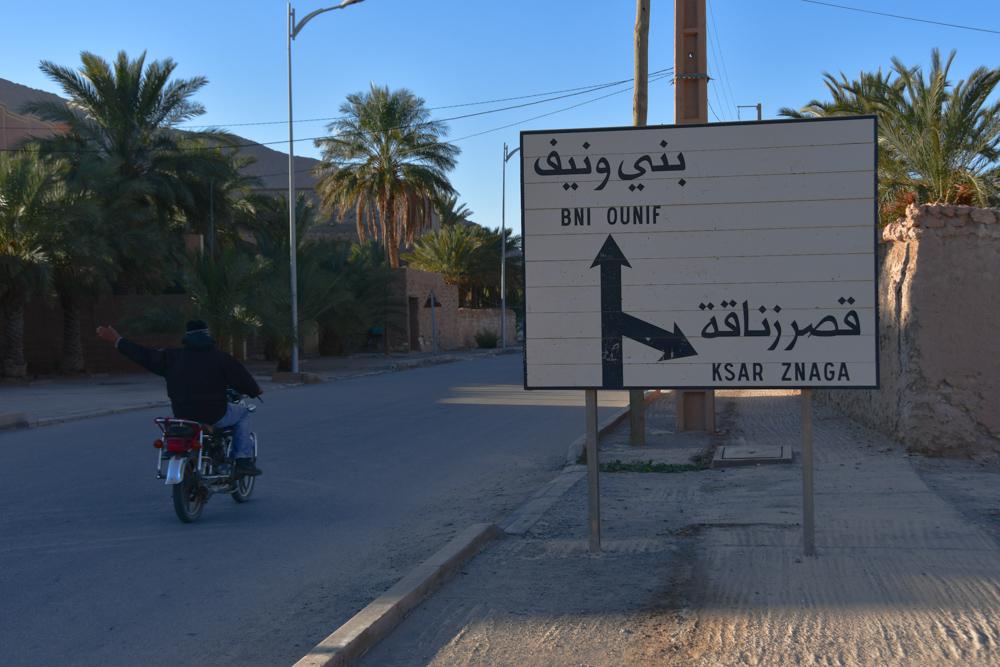 Ortsschild Algerien Toefffahrer