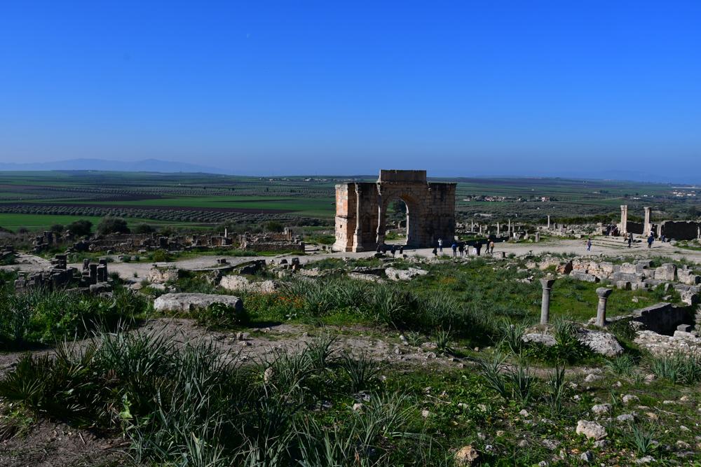 Volubilis alte Mauern Tor