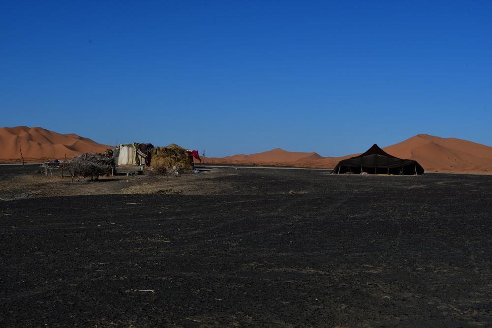 Huetten Zelt am Rand Erg Chebbi