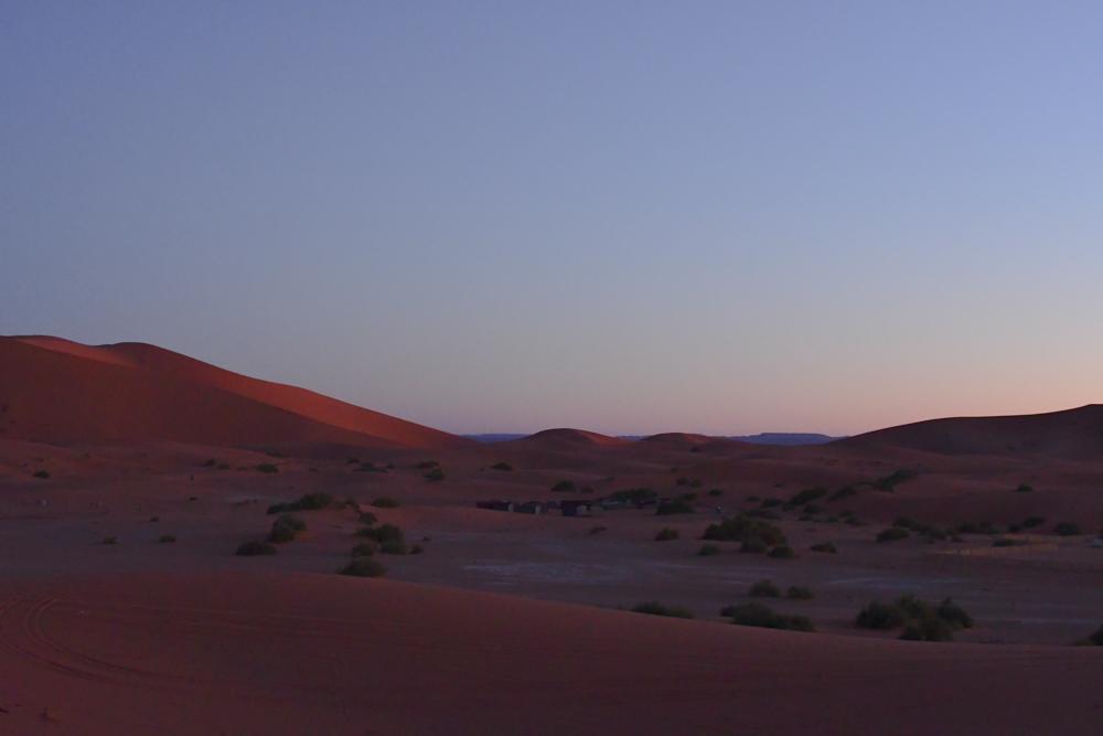 Morgenstimmung Sandduenen in Wueste Erg Chebbi