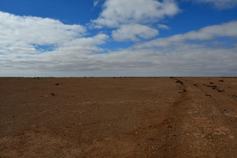 roetliche Ebene flach Westsahara