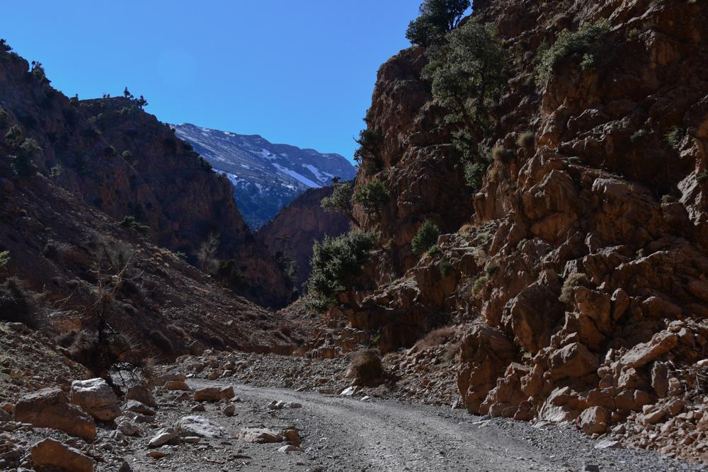 Schlucht Oued Jaffar weniger Felsen