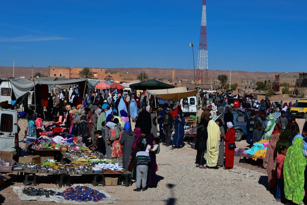 Souk Boudnib Kleider Menschen